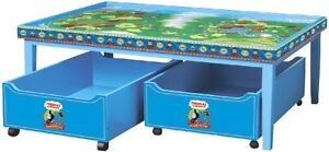 Thomas the Tank Engine Table and Storage Bins GREAT CONDITION