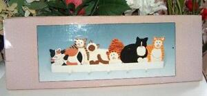 Kitty Cat Wooden Clothing or Jewellery Rack