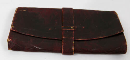 Vintage/Antique leather - Trifold- billfold Wallet from the 1900