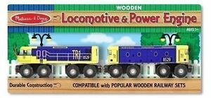 Brand New -Melissa & Doug Wooden Locomotive & Power Engine