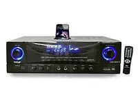 PyleHome PT4601AIU 500W Stereo Receiver AM-FM Tuner/USB/SD/ - Ex-Display - Like New