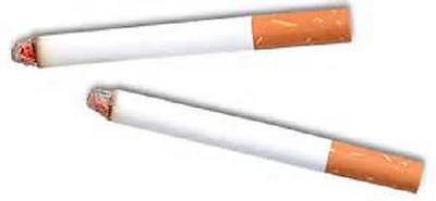 2 FAKE PUFF CIGARETTES w/ Smoke Magic Joke Trick Stage Prop #AA19 Free - Puff Cigarettes