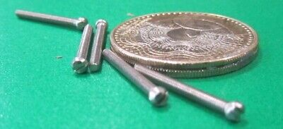 Fillister Head Stainless Steel Slotted Machine Screw 1-72 x 3/4
