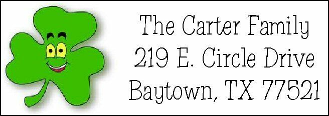 ~ST. PATRICKS DAY CLOVER~  Return Address Labels!