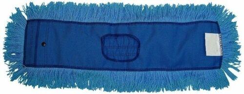 """JaniMop Twisted Dust Mop Head, Blue, 48"""" x 5"""" (1 Each)"""