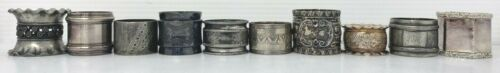 Victorian NAPKIN RING Lot 10 Silverplate Silver Napkin Holders Vintage Antique