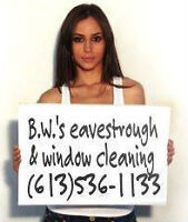Eavestrough Cleaning,Repairs,Leafguard,Window Cleaning,Caulking