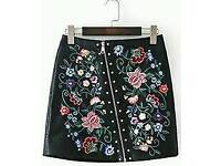 New Ladies Fashion Floral Design Pattern Skirt