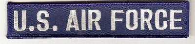 < Aufnäher Abzeichen Patch - US Air Force | Schriftzug / Bruststreifen  - Kutte