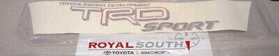 Toyota Tacoma TRD White Sport Decal Emblem Sticker Genuine OE OEM