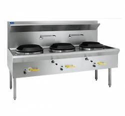 Waterless Wok 3 Chimney Burner Luus WL-3C - Catering Equipment Campbellfield Hume Area Preview