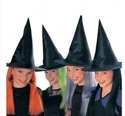 3x Children's Witches Hat With Hair. NEW