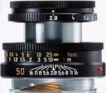 Leica  Elmar-M 50 mm   F/2.8  Lens (Black )