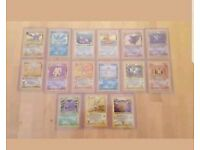 Pokemon cards complete fossil set 62/62 NM / Mint