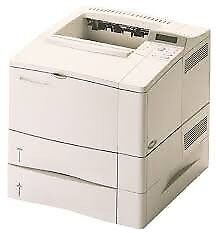 HP LaserJet 4000TN network laser printer with extra 500 sheet paper tray and duplexer.