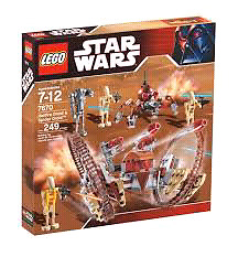 Star wars lego hailfire droid and spider droid