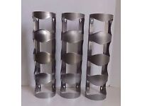 3 Stainless steel wine racks