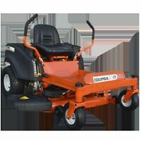 Columbia lawn tractors, zero turns and mowers-Only a few left!!