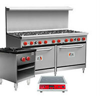 Commercial Gas Restaurant Ranges with Ovens and More