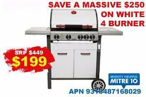 BRAND NEW BBQ - 4 BURNER BBQ IN WHITE + side BURNER - BE QUICK Bundall Gold Coast City Preview