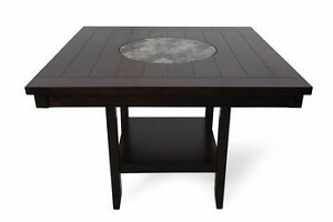 GREAT FOR ENTERTAINING.   Pub height, lazy susan, dark wood