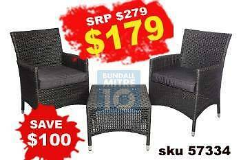 CLEARANCE ON OUTDOOR FURNITURE TIMBER ALUMINIUM WICKER NEW Bundall Gold Coast City Preview