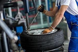 Tires installation/balancing best price in Town! No appointment needed! Installation de pneus sans rendevouz ! Appelez !