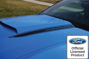 2010 2012 Ford Mustang Hood Spear Cowl Stripe Graphic Decal Sticker Package Lob
