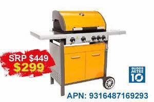 BRAND NEW 4 BURNER BBQ IN YELLOW/ORANGE Benowa Gold Coast City Preview