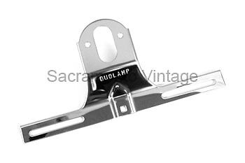 1951 1952 FORD PICKUP POLISHED STAINLESS REAR LICENSE PLATE BRACKET TRUCK