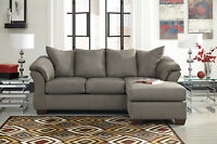 Ashley sofa with chaise set comes in 7 colors Amazing Deal