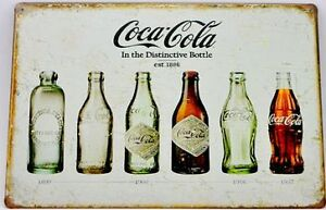 Coca Cola Bottles Wall Art- Tin Sign