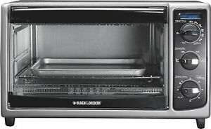 Black and Decker toaster oven, used