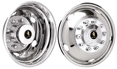 Workhorse hubcaps wheel liners 19.5 motorhome Rv 10 lug rear 5 lug front bolton