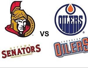 Ottawa Senators vs Edmonton Oilers tickets Sunday January 8th