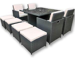 gartenm bel aus rattan g nstig online kaufen bei ebay. Black Bedroom Furniture Sets. Home Design Ideas