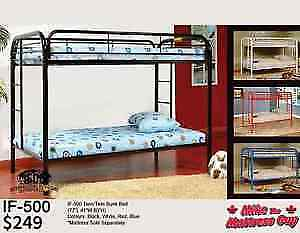 GREAT SELECTION OF SINGLE/SINGLE BUNK BEDS STARTING AT $249!