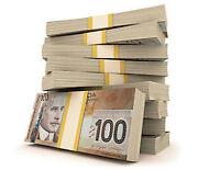 PRETS DE $300 A $3000 SANS ENQUETE!