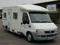 Chausson motor home, auto,LHD with low milage. like new.