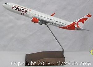 Travel Agent Advertising Air Canada 'Rouge' Model Plane