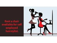 Hairdresser self employed rent a chair