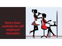 Hairdressing Chair To Rent In Paisley Town Centre (Near Argos, Subway, Paisley Centre)