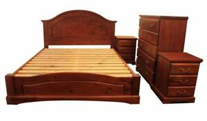 【Brand New】Kingsford Pine Queen Bedroom Suite From Nunawading Whitehorse Area Preview