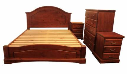 【Brand New】Kingsford Pine Queen Bedroom Suite From