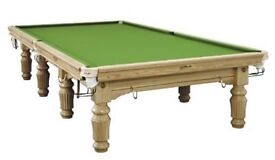 SNOOKER TABLE 12 FOOT SOLID OAK ALSO 10 FOOT AVAILABLE