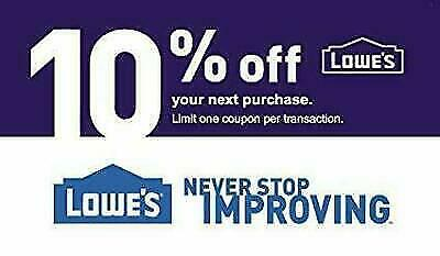 ONE (1X) 10% OFF LOWES 1Coupon - Lowe