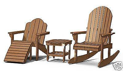 Adirondack chair pattern ebay - Patterns for adirondack chairs ...