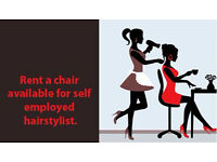Chair to rent within Hair& Beauty Salon