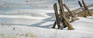 ROBERT BATEMAN - SPLIT RAIL - SNOW BUNTINGS