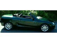MG MGF 1.8 British Racing Green sports car